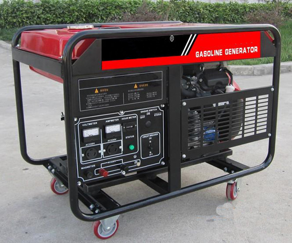 Electric key start 10kw 10kva Portable Gasoline Generator AC Single Phase Output Type